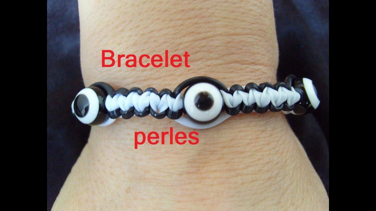 bracelet perles scoubidou tuto francais youtube. Black Bedroom Furniture Sets. Home Design Ideas