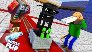 Monster School : BALDI'S BASICS & BOTTLE FLIP CHALLENGE - Minecraft Animation