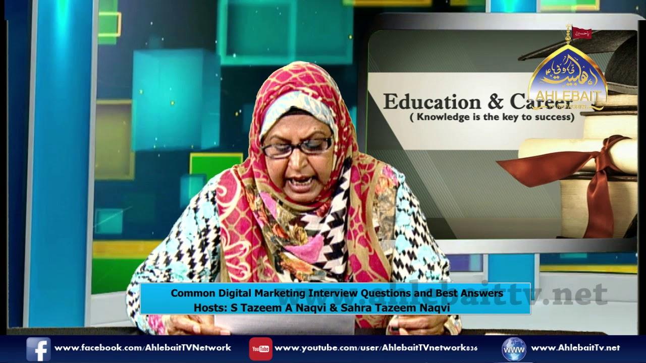 Education and Career I S Tazeem Naqvi I Sahra Tazeem Naqvi I 08 07 2019