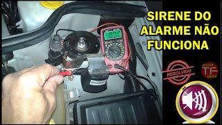 Sirene do alarme parou de funcionar , como testar a saída do alarme ou a sirene queimou.
