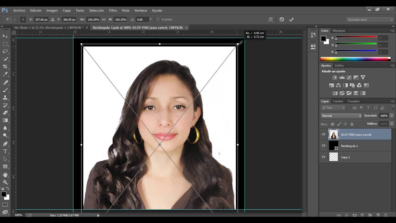 Como Hacer Una Foto Pasaporte En Photoshop Cs6 Youtube