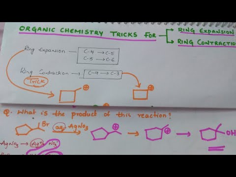 Organic chemistry Tricks for Ring Expansion and Ring Contraction