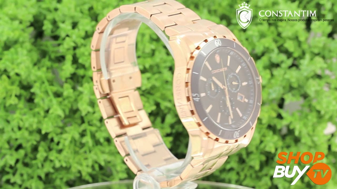 589c1e9752c Relógio Constantim Chronograph Rose - ShopBuy - YouTube