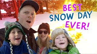 BEST SNOW DAY EVER!   Ryan wins Pizza for a year! Epic Concert! AND Sledding!