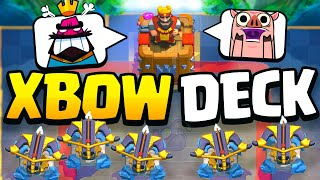 I don't know what to do.. it's THAT EASY! (Clash Royale Best Xbow Deck)