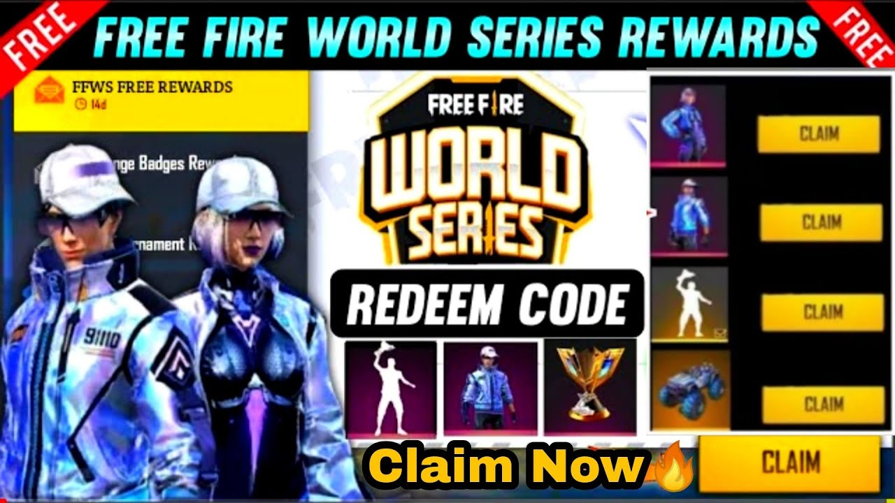 Ff Redeem Code Of World Series Bundle & Emote Rewards For All || Free🔥