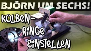 Björn um Sechs! #1 - Kolbenringe einstellen an Marius S4 Motor! ( Stoßspiel ) | Philipp Kaess |