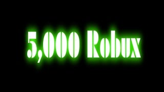 Roblox 5,000 Robux Giveaway For 3,000 Subscribers! (ended)