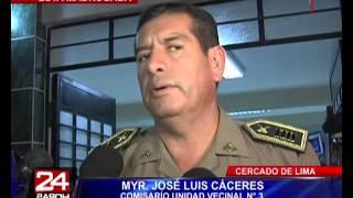 Asaltantes balean a efectivo policial en el Cercado de Lima (2/2)