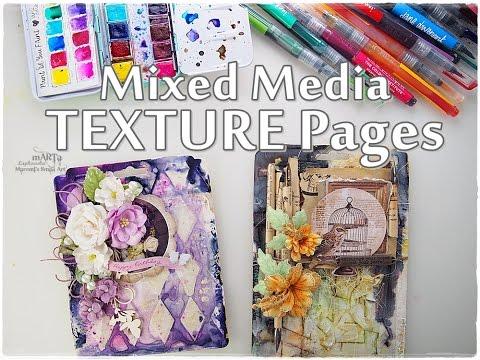 Mixed Media TEXTURE page Tutorial #2 ♡ Maremi's Small Art ♡