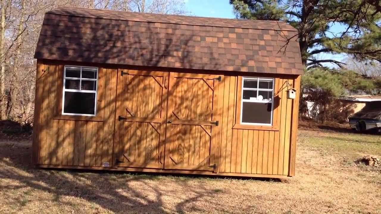 Bon Graceland Portable Buildings Side Lofted Barn Review   YouTube