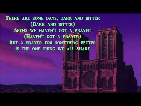 """Someday by All-4-One (w/ lyrics) From Disney's """"The Hunchback of Notre Dame"""""""