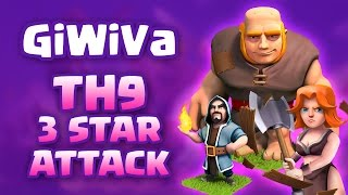 Clash of Clans -Town Hall 9 (TH9) Farming Attack Strategy -Giant, Wizard, Valkyrie (GiWiVa)