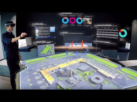 HoloLens  - Airport Command and Control Centre.