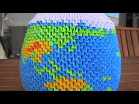 3d origami globe youtube. Black Bedroom Furniture Sets. Home Design Ideas