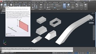 AutoCAD 3D Extrude Command Tutorial Complete | Surface, Solid, Along Path, Taper Angle