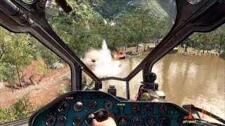 """Escaping In Russian Mi-24 HIND - Vietnam Helicopter Mission - Call of Duty: Black Ops """"Payback"""""""