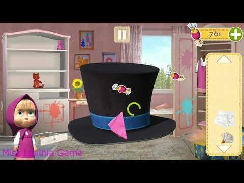 Маша уборка мультики для малышей! Видео игра #МашаИМедведь 🐻 для детей.