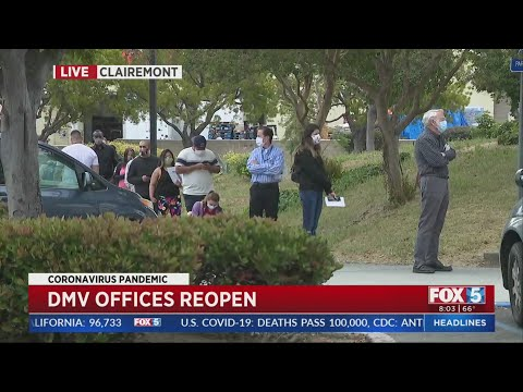DMV Offices Reopen