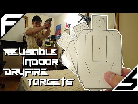 DIY Reusable Indoor Dryfire Targets