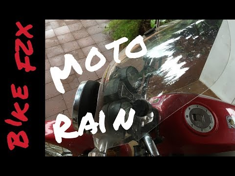 Working in the Rain on a  Motorcycle in Paraguay