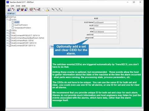 Creating a SECS/GEM