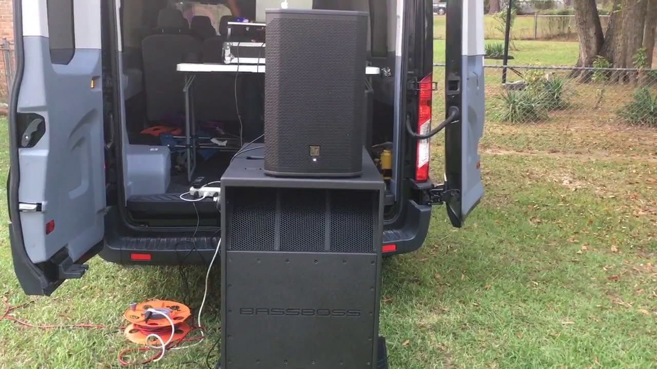 mobile dj backyard party setup w dj mac youtube