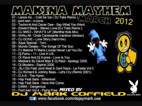 DJ MARK COFFIELD (AKA DJ BEANY) - MAKINA MAYHEM MIX MARCH 2012