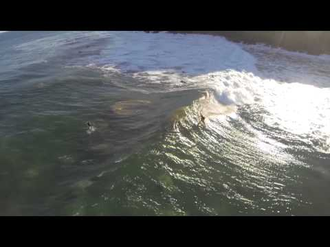 A beautiful summer surf day in Malibu California: epic aerial drone footage