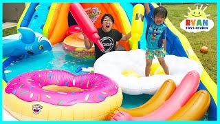 Giant Inflatable Water Slide for kids with Pool Party Giant Floats