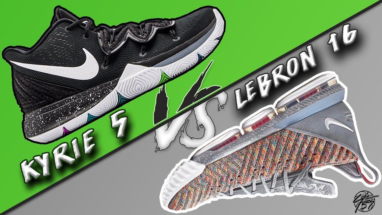 Nike Kyrie 5 vs Lebron 16! - YouTube a1786148e