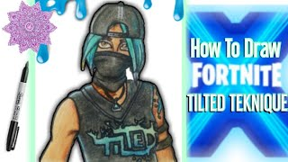 How To Draw Tilted Teknique Skin Season X Easy | Season 10 Fortnite Drawing Step By Step- Ignite Art