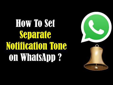 How To Set Different WhatsApp Message Alert Tone For Specific Contacts? [HD]