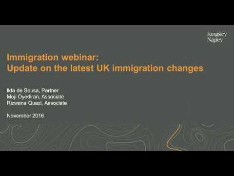 Webinar - Update on the latest Tier 2 immigration rule changes