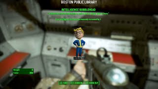 fallout 4 intelligence bobblehead boston public library location