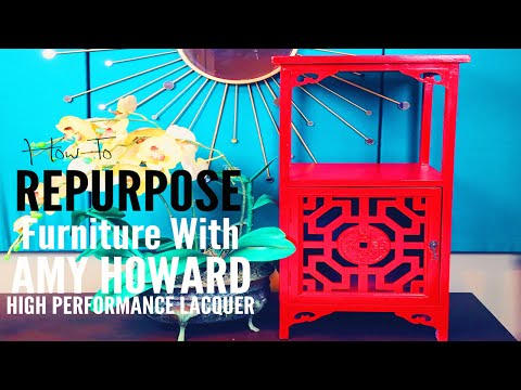 How To Repurpose Furniture With Amy Howard Lacquer Spray Paint   |  Ep: 14 woop! woop!