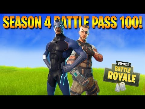 FORTNITE - SEASON 4 LEVEL 100 BATTLE PASS SKINS & GAMEPLAY! (New Fortnite Update)