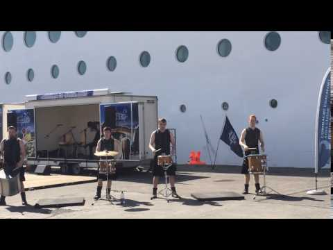 Cruise ship arriving in Dublin