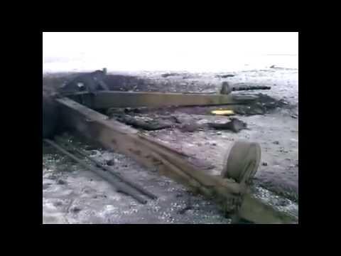 Взрыв снаряда в