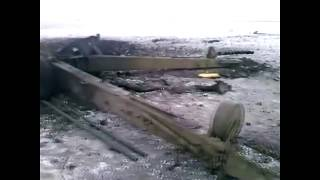 Взрыв снаряда в стволе 152-мм гаубицы «Мста-Б» на учениях ВСУ. Момент взрыва и его последствия