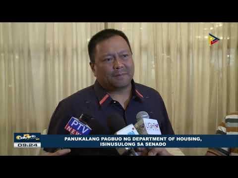 Panukalang pagbuo ng Department of Housing, isinusulong sa Senado