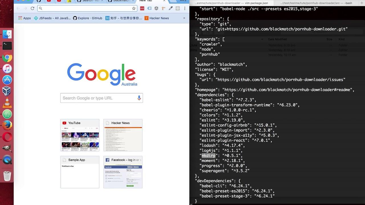 Code reading: pornhub downloader in nodejs, babel-node, ES6