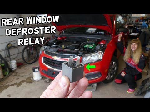CHEVROLET CRUZE REAR WINDOW DEFROSTER DEFOGGER RELAY LOCATION REPLACEMENT