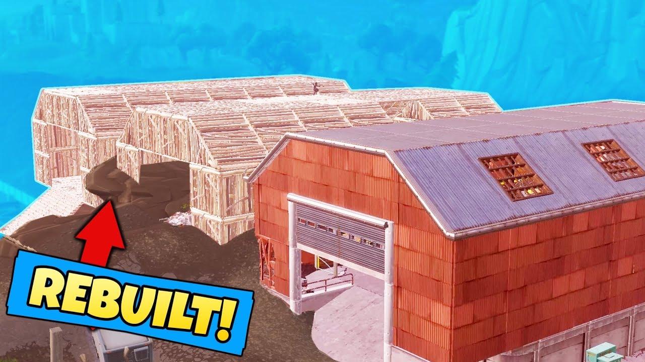 We Rebuilt Dusty Depot In Fortnite Battle Royale Youtube