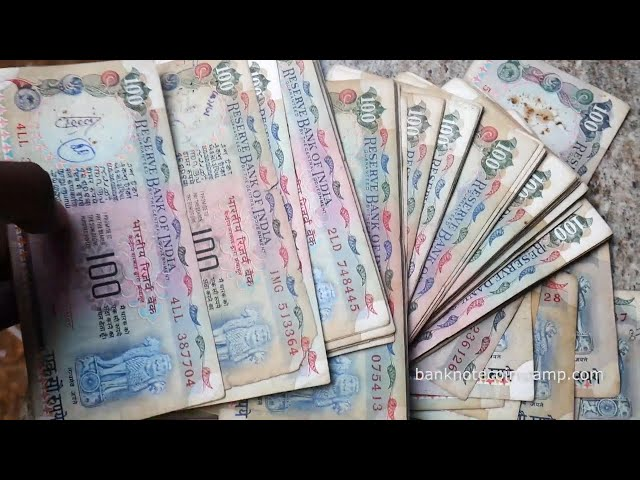 Indian Banknotes very much used Condition