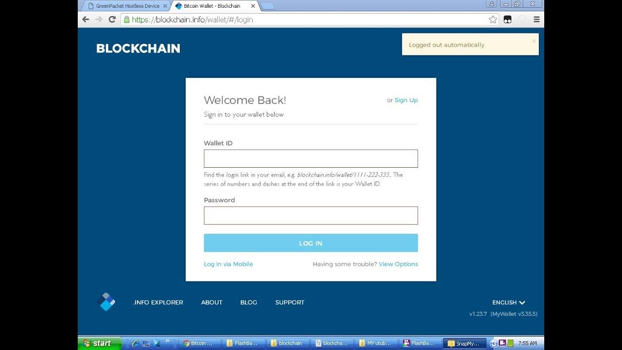bitcoin login blockchain)