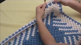 Tapete em fio conduzido em diagonal -passo a passo - Pink Artes Croche by Rosana Recchia