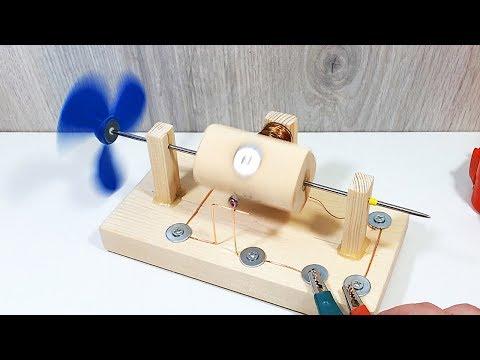 Сделал бесколлекторный электродвигатель постоянного тока своими руками!