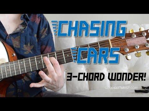 """Chasing Cars"" Guitar Tutorial - Easy 3-Chord Song!"