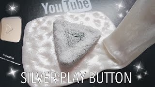 diy silver play button rubber slime squishy tutorial thanks for 160k subscriber bhs indonesia